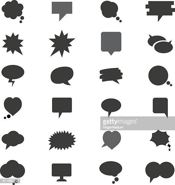 speech bubbles - thanks quotes stock illustrations
