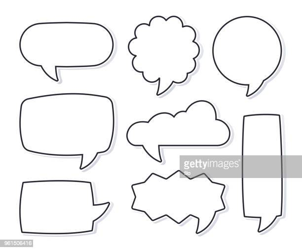 speech bubbles - humor stock illustrations