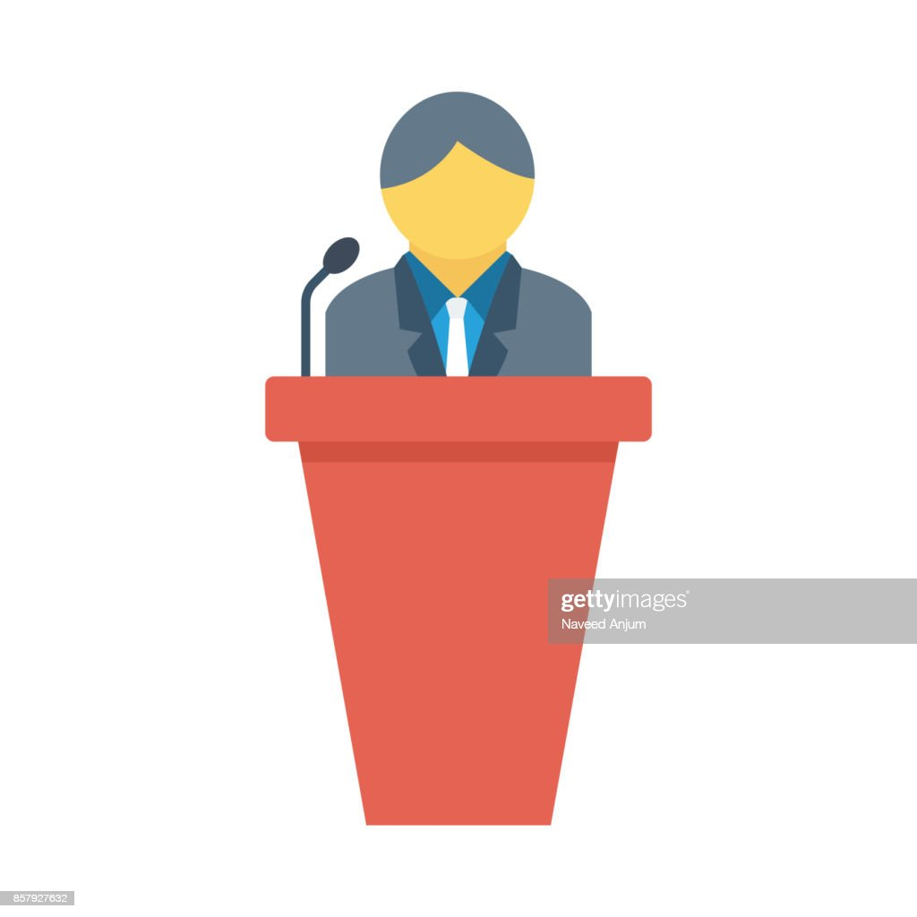 Speech Flat Vector Icon