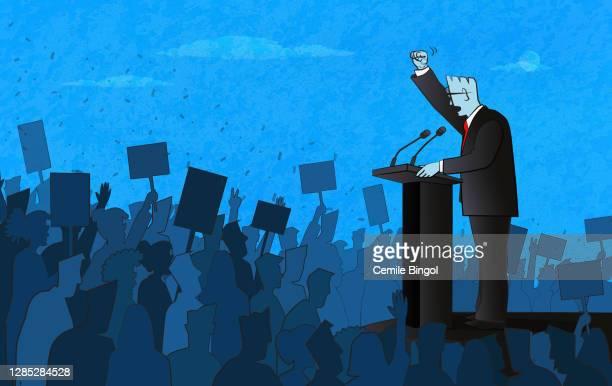ilustrações, clipart, desenhos animados e ícones de discurso do político - presidente
