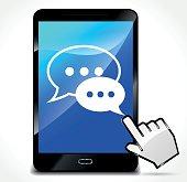 speech on mobile phone screen