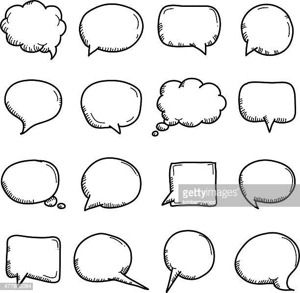 speech - sketch stock illustrations