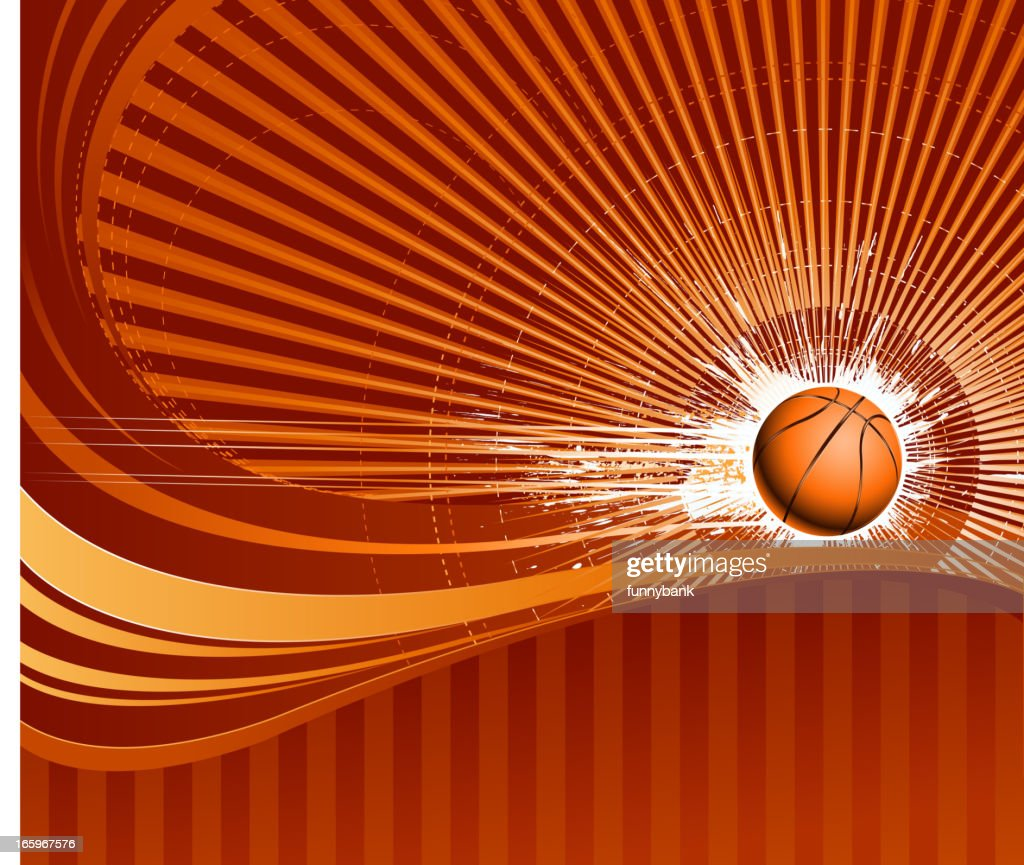 speed basketball on backround