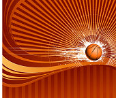 speed basketball on backround
