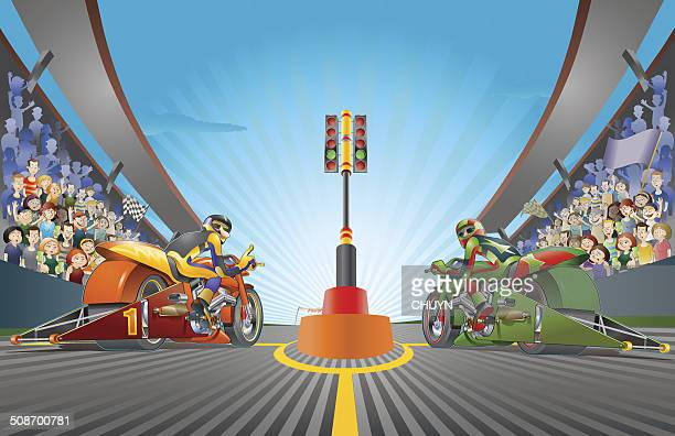ilustrações de stock, clip art, desenhos animados e ícones de batalha de velocidade - pista de atletismo