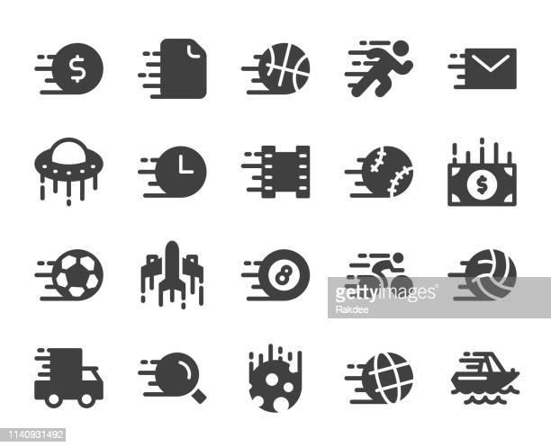 speed concept - icons - pool ball stock illustrations