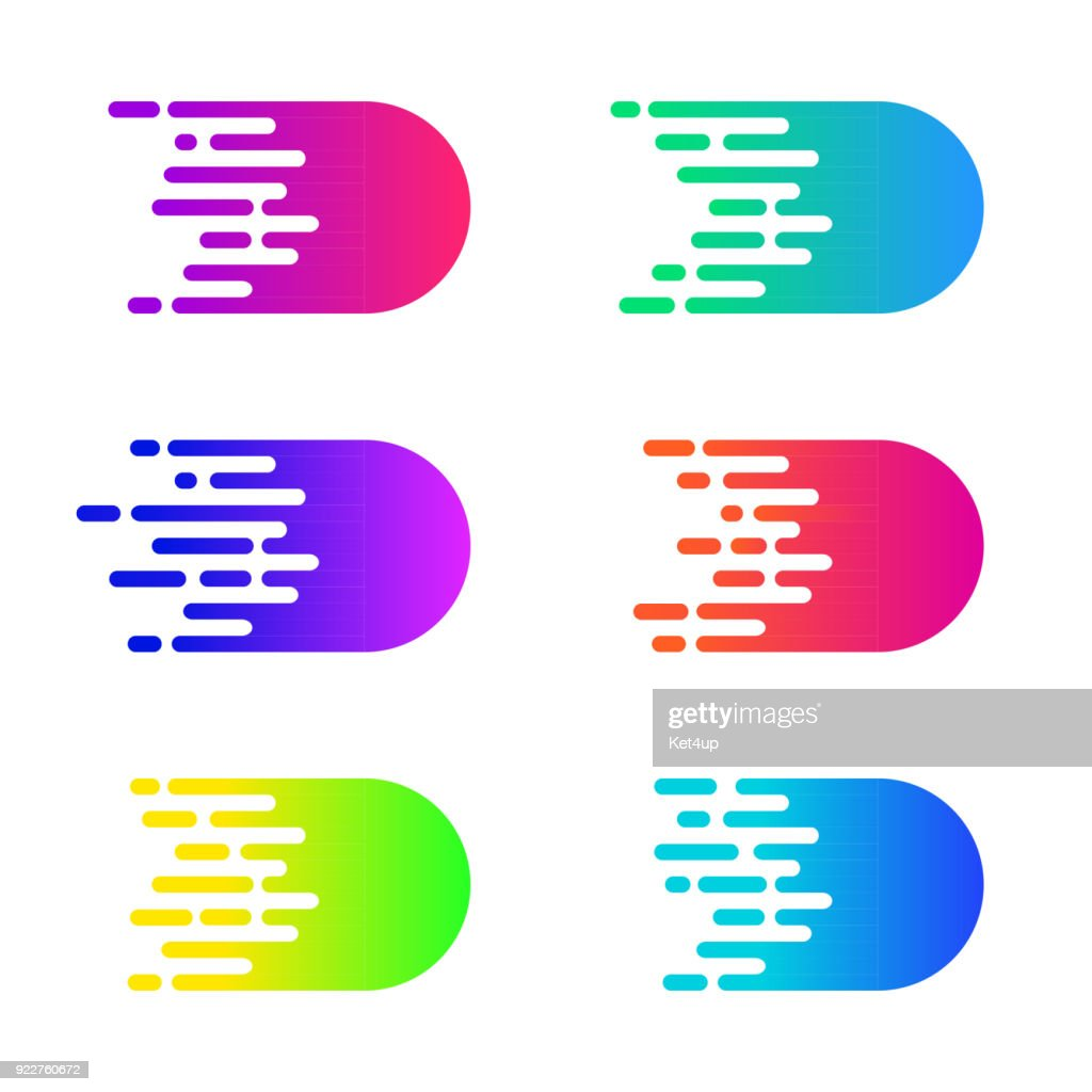 Speed concept. Vector motion comics effect. Colorful simple speed lines