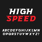 Speed. Dynamic Italic Font