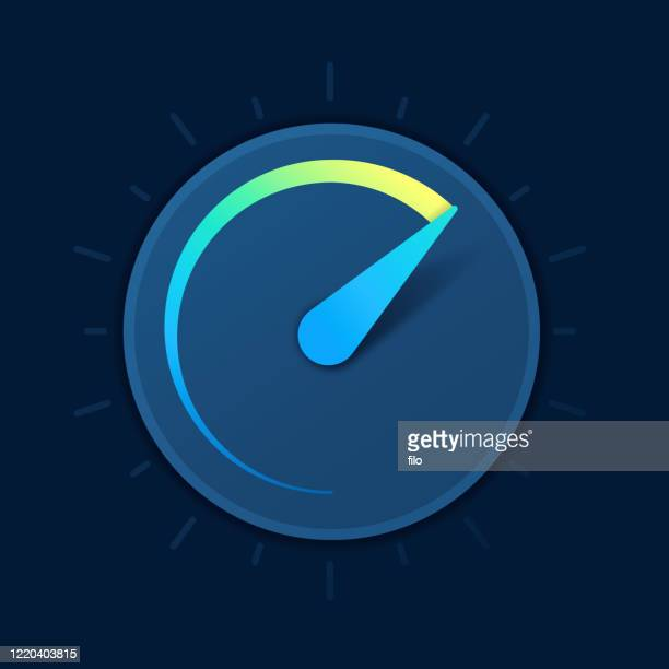 speed gauge dial symbol - low stock illustrations