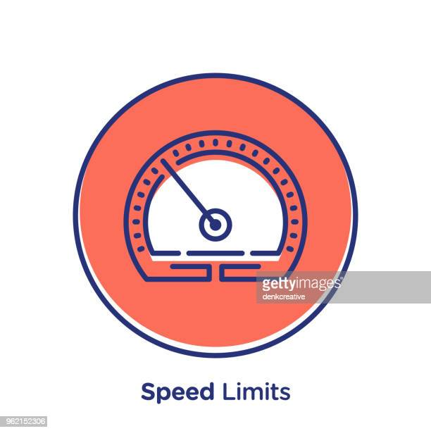 speed icon - letrac stock illustrations
