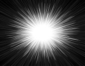 Speed Light Comic Book Style Explosion Beam Radial Zoom Background