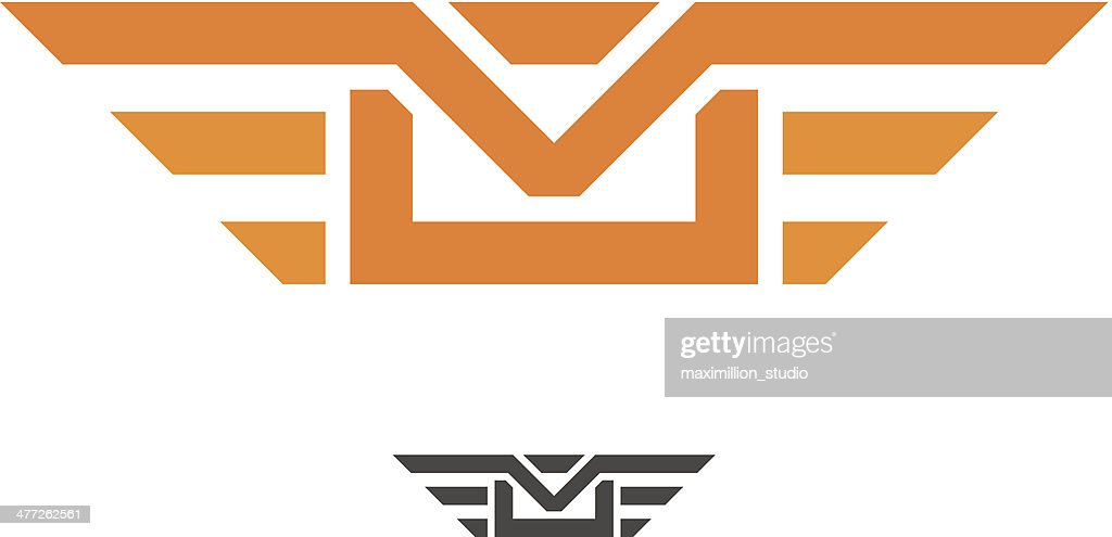Speed mail wings professional and fast delivery vector logo design : stock illustration