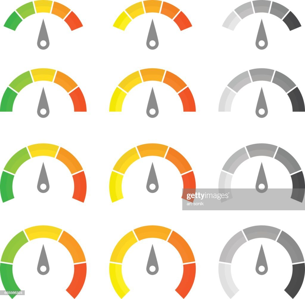 Speed metering icon set.