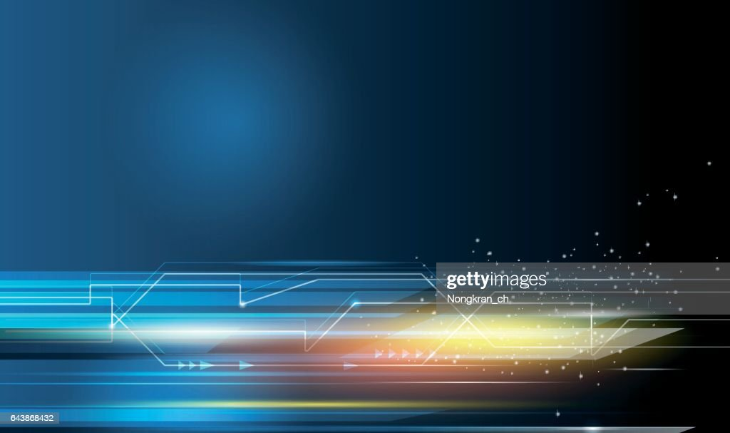 Speed movement pattern and motion blur over dark blue background