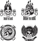 Speed racer. Born to ride. Vector illustration.