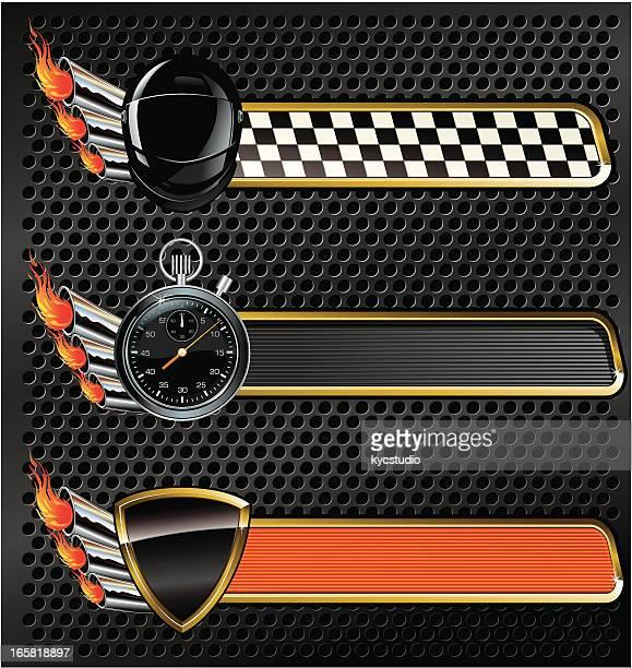 ilustrações, clipart, desenhos animados e ícones de banners de corrida de alta velocidade - cronômetro instrumento para medir o tempo