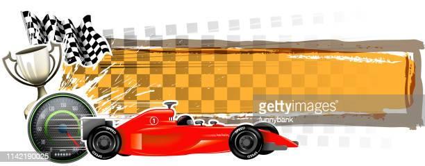 speed season banner - go carting stock illustrations, clip art, cartoons, & icons