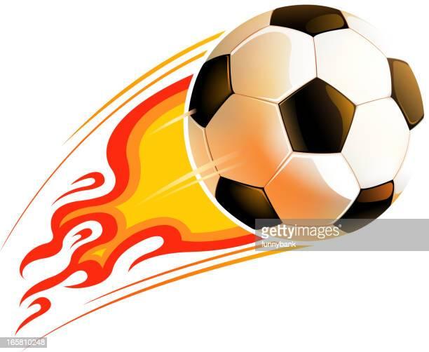 高速サッカーボール - ショットを決める点のイラスト素材/クリップアート素材/マンガ素材/アイコン素材