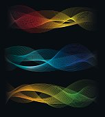 Speed sound waves abstract background