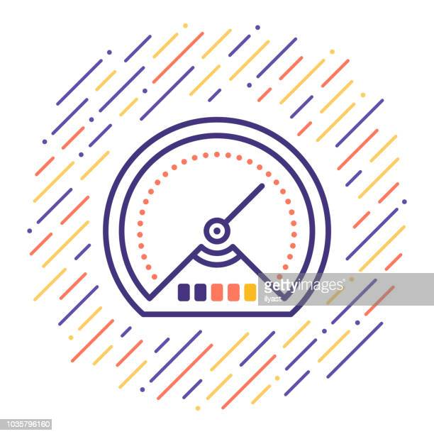 Speed Test Line Icon