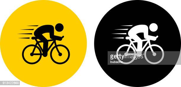 speeding bicycle. - bicycle stock illustrations