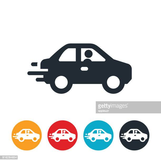 speeding car icon - car stock illustrations, clip art, cartoons, & icons