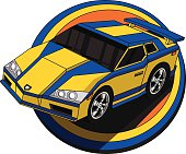 Speeding Cartoon Car