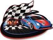 Speeding Racing Cars Design