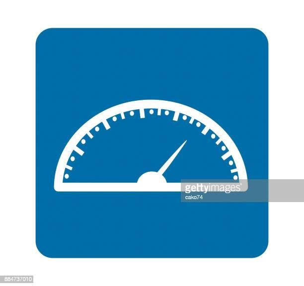 speedmeter vector graphic - odometer stock illustrations, clip art, cartoons, & icons