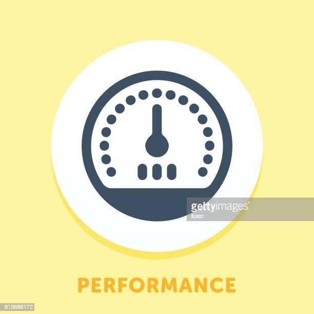 speedometer curve icon - letrac stock illustrations
