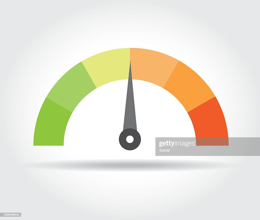 Speedometer icon. Colorful Info-graphic