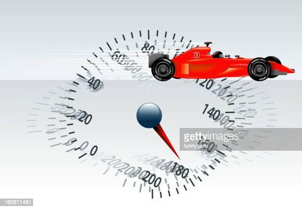 ilustrações, clipart, desenhos animados e ícones de velocímetro de carro de corrida - carro de corrida