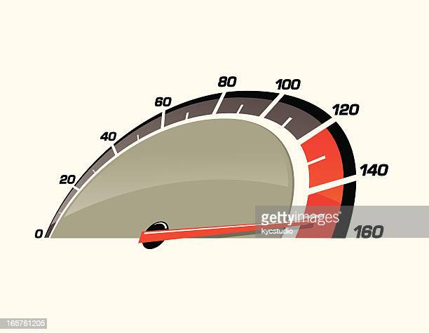 speedometer pushed to the limit - speedometer stock illustrations