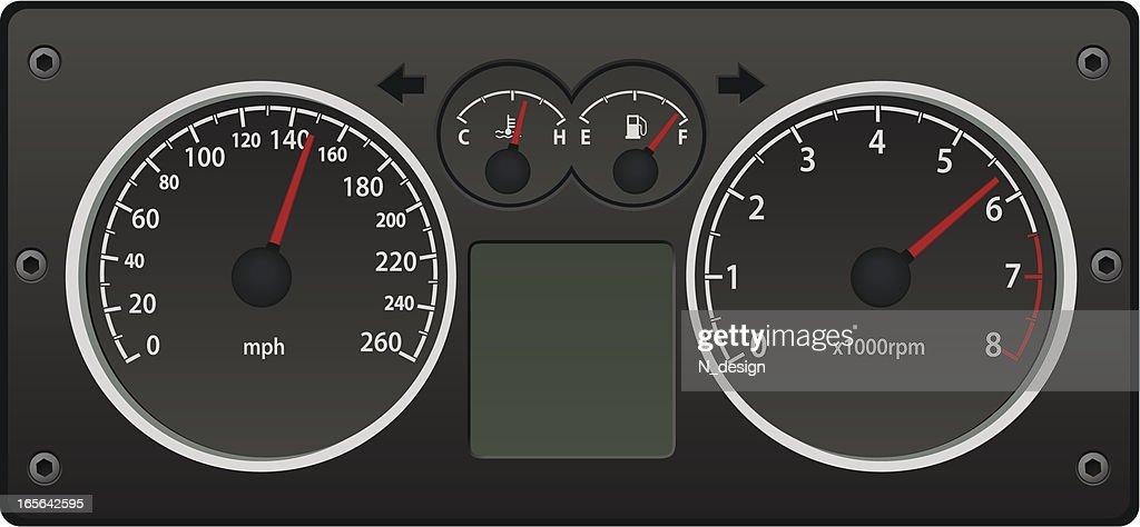 Speedometer : stock illustration