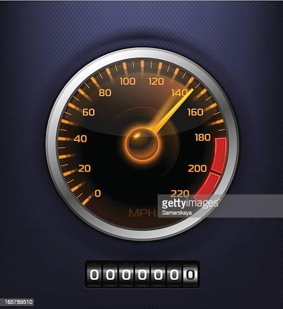 speedometer - letrac stock illustrations
