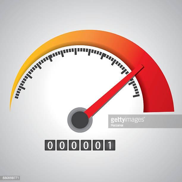 tachometer - geschwindigkeit stock-grafiken, -clipart, -cartoons und -symbole