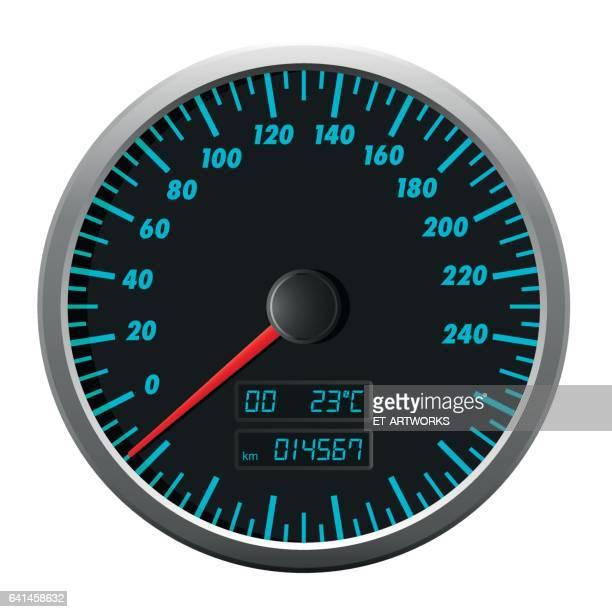 speedometer - odometer stock illustrations, clip art, cartoons, & icons
