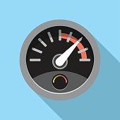 Speedometer.Vector Flat Icon