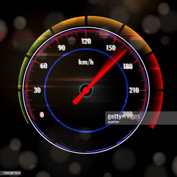 speedy car dashboard screen. - letrac stock illustrations