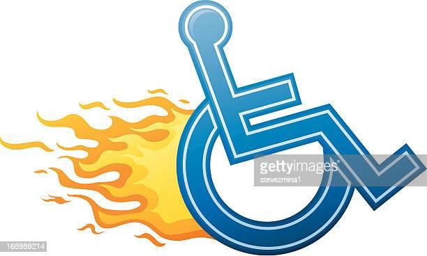 Rápida señal para silla de ruedas