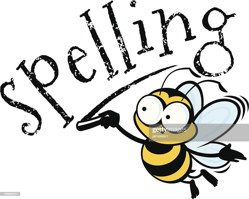 Line Art Bee : Spelling bee vector art getty images
