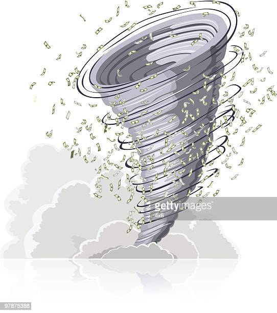 spending up a storm - money to burn stock illustrations, clip art, cartoons, & icons
