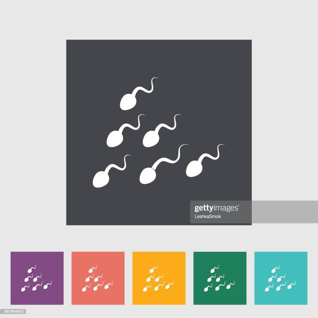 Sperm. Single flat icon