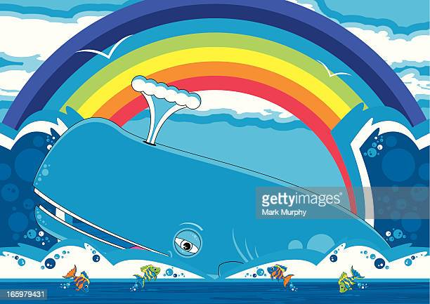 Sperm Whale & Fish Scene