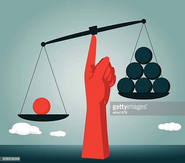 sphere, seesaw, imbalance, horizontal, contrasts, comparison - scales stock illustrations