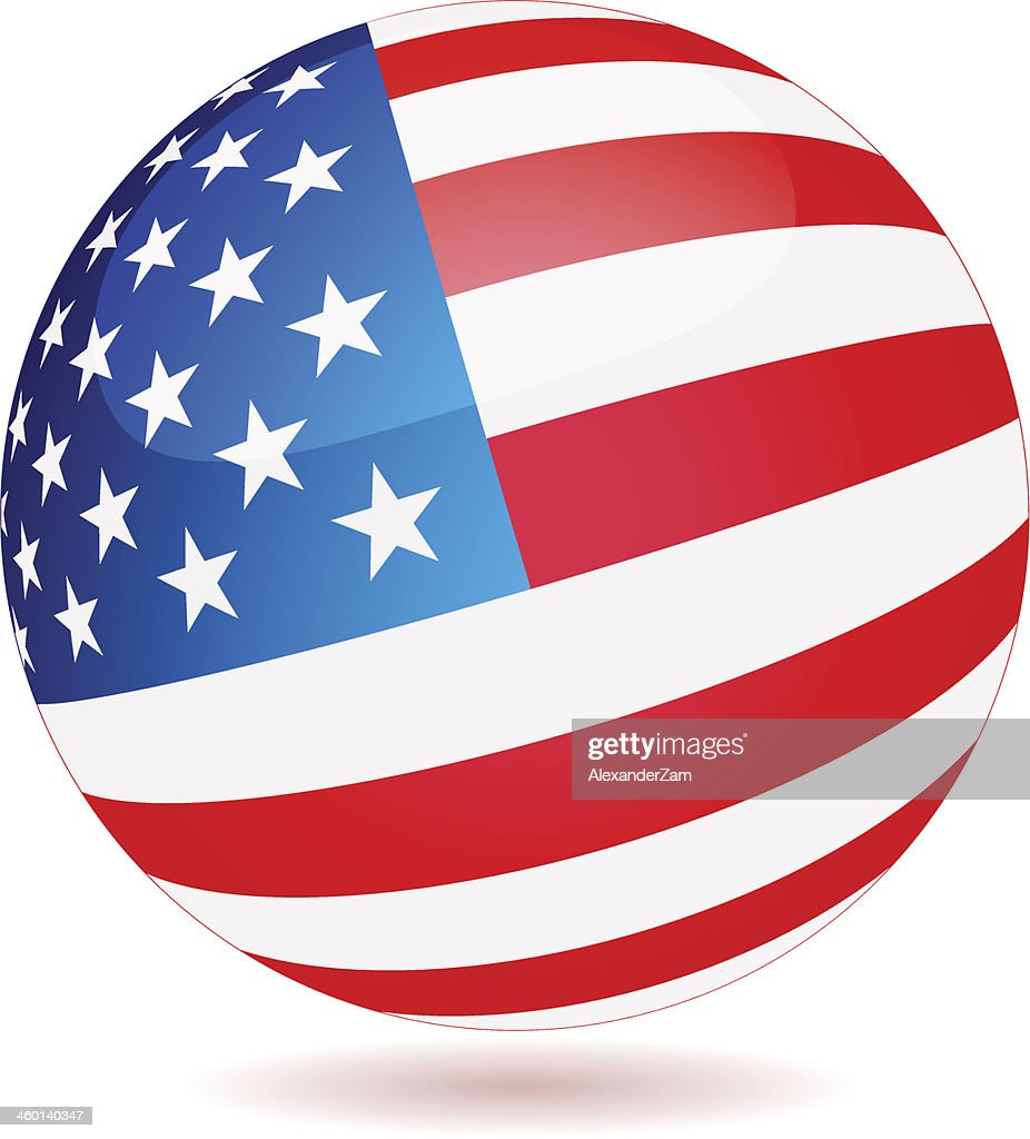 Spherical Flag of USA