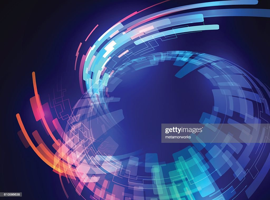 spherical surface, and ray of light, abstract image