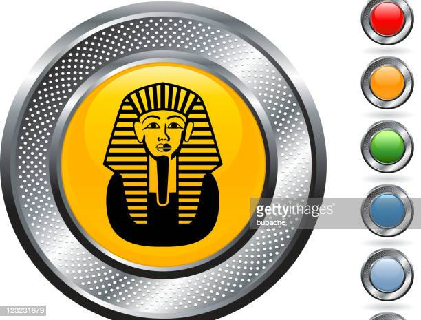 sphinx royalty free vector art on metallic button - the sphinx stock illustrations, clip art, cartoons, & icons