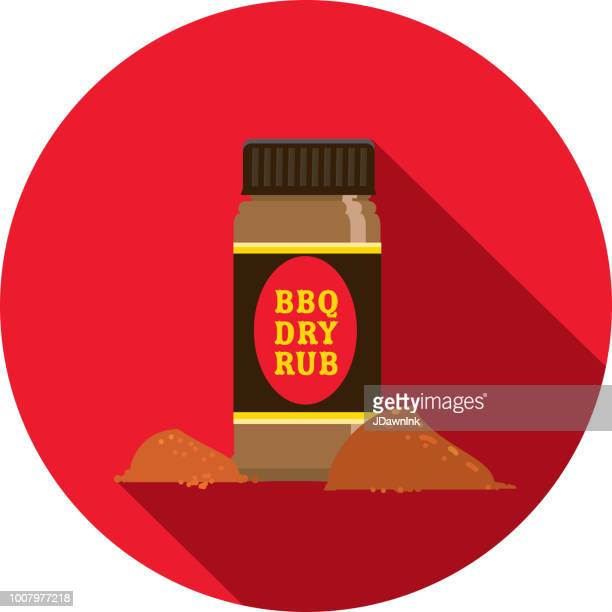 Spice rub Flat Design BBQ or barbecue  themed Icon with shadow