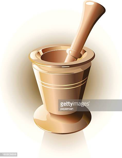spice - mortar and pestle stock illustrations, clip art, cartoons, & icons